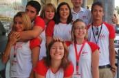 Tým koordinátorů starajících se o pohodlí studentů jazykového kurzu na škole LAL Malta Sliema