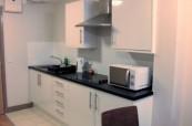 Kuchyňka ve studentské rezidence Britannia v Brightonu
