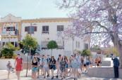 Studenti jazykové školy během exkurze, Colegio Maravillas