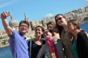Studenti jazykového kurzu angličtiny na škole BELS Malta na exkurzi do hlavního města Valletta