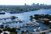 Florida je známá množstvím vodních kanálů, LAL Fort Lauderdale USA
