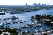 Pohled na Fort Lauderdale v USA