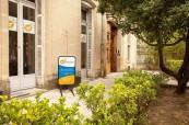 Jedna z budov jazykové školy LSF Montpellier ve Francii, která se nachází přímo v centru města