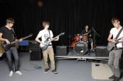 Zkouška hudební kapely na škole Chichester College