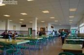 Školní jídelna na střední škole Colegio Maravillas v Benalmádeně u Malágy ve Španělsku