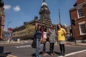 Orientační procházka po městě Leeds pro nové studenty jazykového kurzu angličtiny, CES Leeds