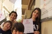 Studenti obdrželi závěrečný certifikát o absolvování kurzu na škole LAL Malta Sliema