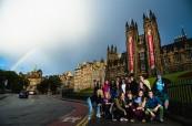 Skotsko je proslulé svým počasím a studenti letního kurzu angličtiny mají možnost to poznat sami, BSC Edinburgh