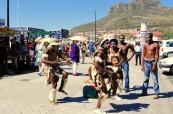 Pouliční představení místních umělců v Kapském Městě, LAL Travelling Classroom