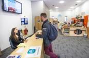 Atlantic Language v Dublinu má příjemnou recepci, kde jsou studentům ochotni věnovat se a pomoci jim s čímkoliv potřebují