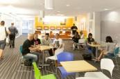 Prostory jazykové školy EC Los Angeles USA jsou velice moderní