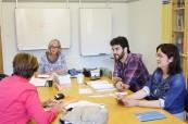 Studenti během výuky angličtiny pro manažery, English in Chester, Anglie