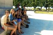 Studenti francouzštiny během školní exkurze, LSF Montpellier