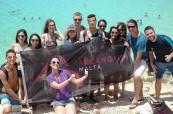 Studenti anglického jazyka na škole ACE Malta