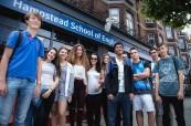 Jazyková škola BSC v Londýně Hamsteadu, kterou navštěvují studenti ubytovaní v hostitelských rodinách, BSC London Hampstead
