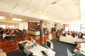 Prostory školy Worldwide School of English v Aucklandu na Novém Zélandu