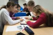 Studenti letního kurzu během výuky angličtiny, BSC Edinburgh