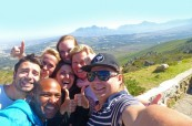 Studenti anglického jazyka během výletu po Jihoafrické republice