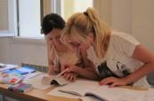Studenti během výuky francouzštiny, LSF Montpellier