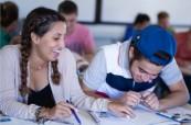 Studenti anglického jazyka během výuky na škole English in Cyprus, Limassol