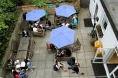 Pohled na zahradu školy British Study Centres v Londýně