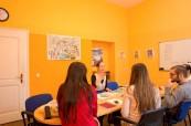 Učebna jazykové školy Inlingua Salzburg, Rakousko