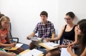 Studenti během výuky anglického jazyka, EC St. Julian's Malta