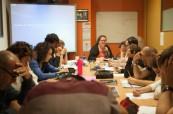 Studenti během výuky anglického jazyka na škole Atlantic Language Galway, Irsko