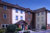 Ukázkové ubytování ve studentské rezidenci Woodlands Halls of Residence, která se nachází v kampusu školy Chichester College