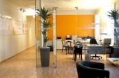 Moderní prostory školy ActiLingua ve Vídni v Rakousku